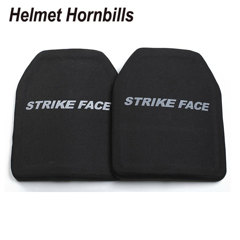 Helmet Hornbills 2PCS Silicon Carbide&PE Level IV Bulletproof Panel/Level 4 Stand Alone Ballistic Panel/Level 4 Body Armor Plate