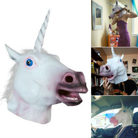 2016 Newest Style Unicorn Horse Head Mask Halloween Costume Party Gift Prop Novelty Masks Latex Rubber