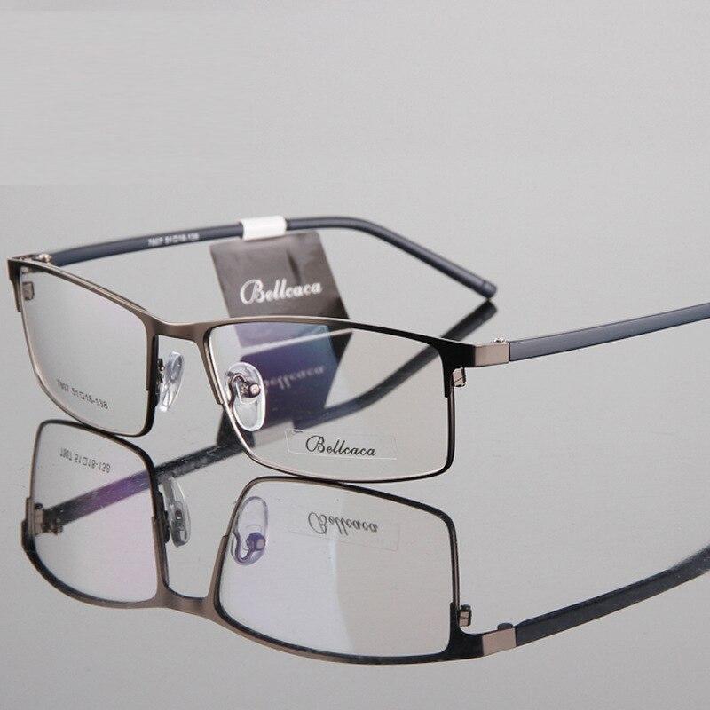 New Men's Business Metal Eyeglass Frame Myopic Eyes Men's Steel Plate Eyeglass Frame Gentleman Trend