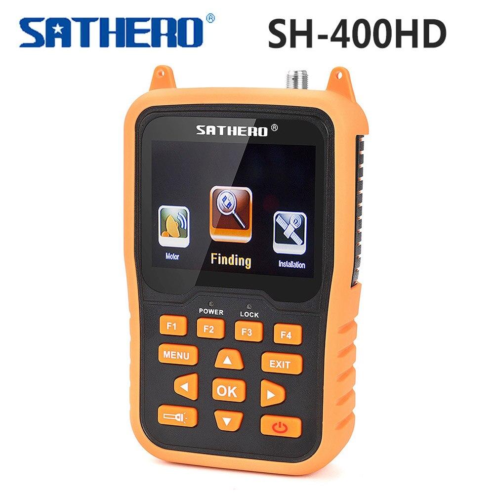 Original DVB-S2 DVB-S SATHERO SH-400HD Satellite Finder 3.5 inch LCD Screen CBS MPEG-4 ABS-S Signal Digital Meter Finder excook cbs 33
