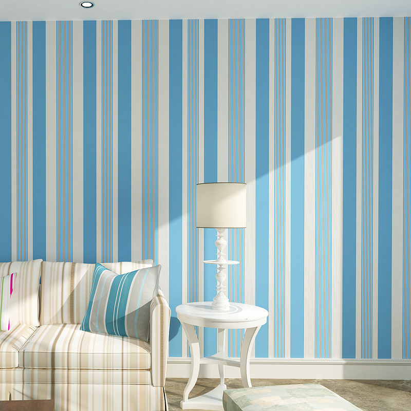 beibehang green stripes Wallpaper for walls 3 d Wall paper Roll Feature Vertical Striped papel de parede wall papers home decor beibehang non woven pink love printed wallpaper roll striped design wall paper for kid room girls minimalist home decoration