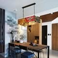 Винтажный Лофт ретро номерной знак светодиодный подвесной светильник железные лампы для столовой спальни огни ресторан бар Декор промышле...