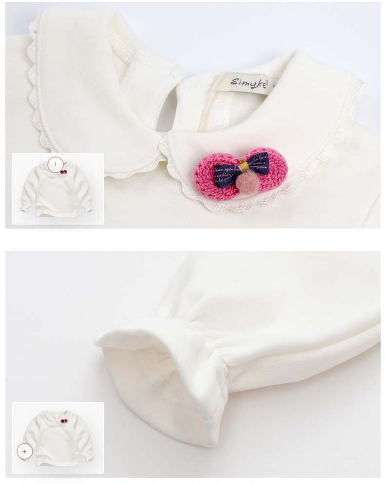 HTB1JXhSSpXXXXaOXXXXq6xXFXXXs - Spring and Autumn Baby Girls White Sweatshirt Long-sleeve Blouse for Girl to School in 1-5 Years Kids Clothes with 3D Bow Brand