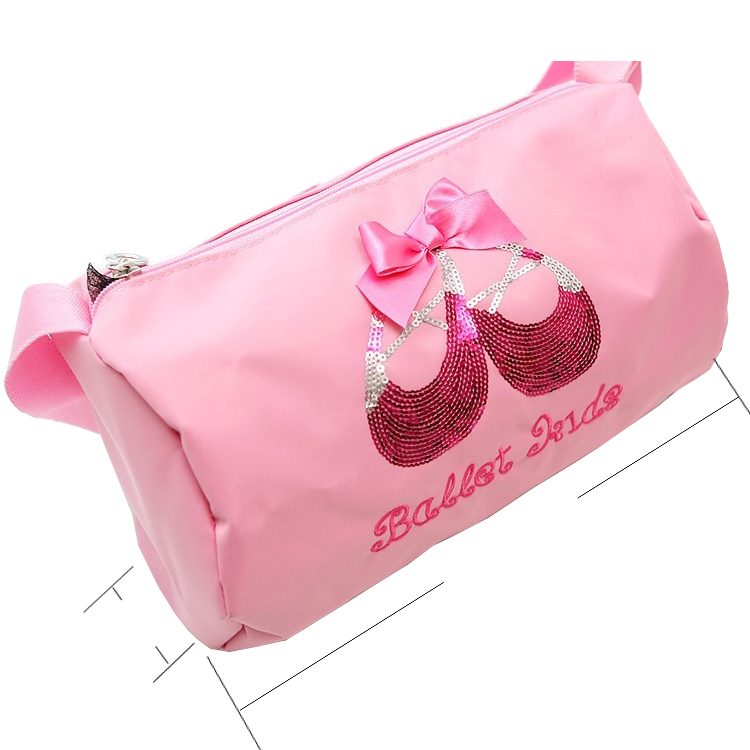 bb4f5f3fb8 Pretty Embroidered Ballet Dance Bag Pink Princess Waterproof Handbags  Durable Girls Kids Duffle BagAS8601A-in Ballet from Novelty   Special Use  on ...