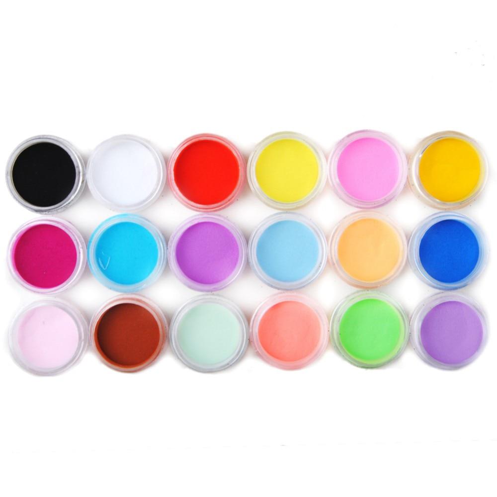 Nail Art Acrylic Colors: Aliexpress.com : Buy New Colored Acrylic Nail Powder 18