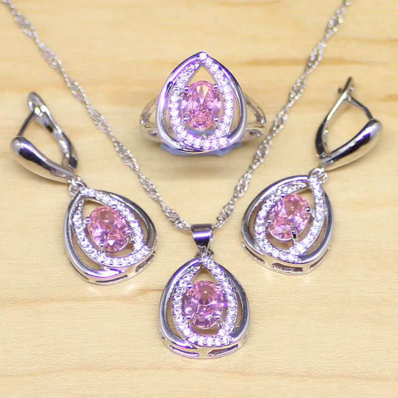 Mystic pink fire cubic zirconia princess diana 925 for Princess diana jewelry box