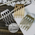 27*40MM 60PCS (Nickel/Gold/Bronze) Metal Hair Comb Claw Hairpins DIY Jewelry Findings&Components