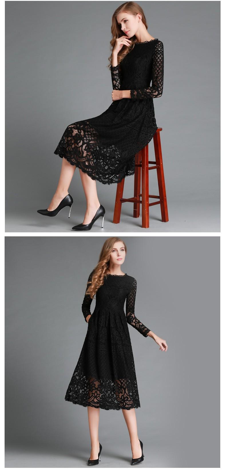 Beauty Long Sleeved Lace Dress 4