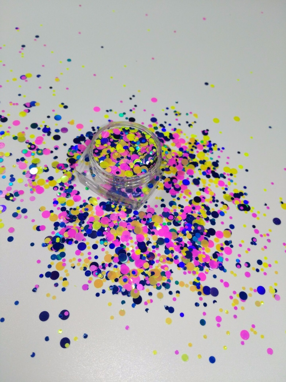 Schönheit & Gesundheit Nagelglitzer Ym-007 1/2/3 Nagel Glitter Paillette Bunten Pailletten Glänzende Runde Ultradünne Uv Gel Maniküre Diy Dekoration Für Nail-50g/200 Gr/beutel