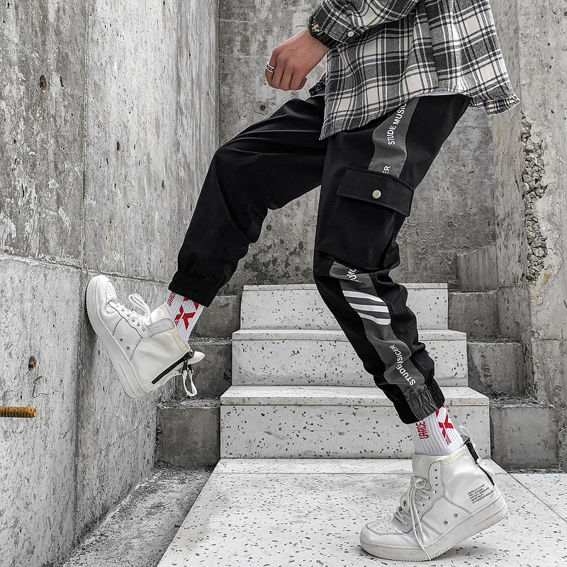 2019 Hip Hop Men Fashion Pantalones Hombre Kpop Casual Cargo Pants Skinny Sweatpants Joggers Modis Streetwear Trousers Harajuku