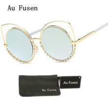 AuFusen Italy Brand designer sunglasses 2017 new fashion luxury Coating Mirrored shades sun glasses hipster personality eyewear