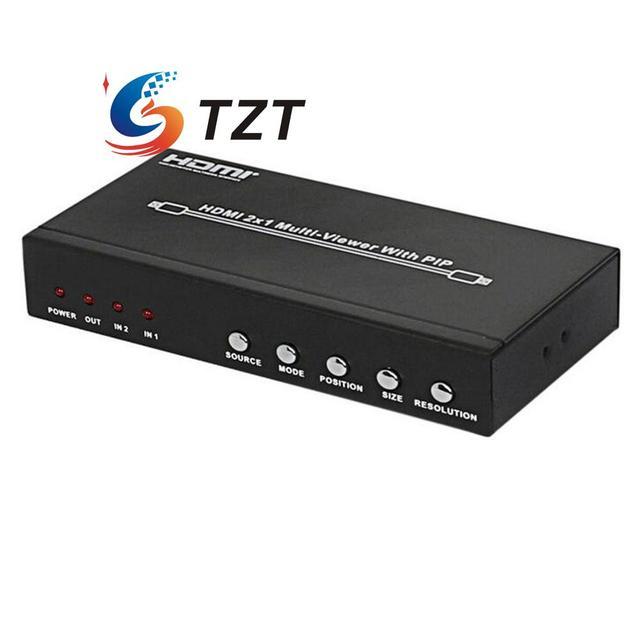 Divisão HDS-821P 2x1 HDMI Splitter Vídeo Áudio Multi-Visualizador w/PIP Dois Porta de entrada Uma saída HDMI para PC DVD Player para HDTV