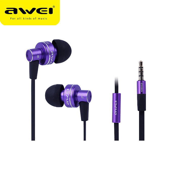 Awei In Ear Earphone earhud with remote mic for apple iphone mobile phone mp3 ES900i