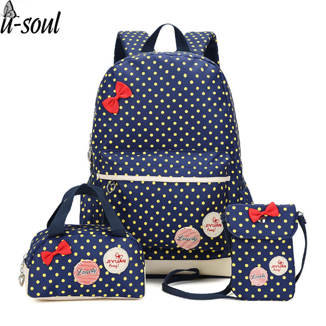 korean cute printing backpack women school bags for teenage girls ...