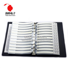 0805 5% SMD Resistor Sample Book 1/8W 0R 10M 170valuesx25pcs=4250pcs Resistor Kit 0R~10M 0R 1R 10M