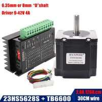 Livraison gratuite Nema 23 23HS5628 moteur pas à pas 57 moteur 2.8A avec pilote de moteur pas à pas TB6600 NEMA17 23 pour CNC et imprimante 3D