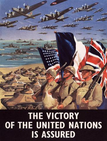 Victory United Nations Assured Wwii Ww2 Propaganda Poster