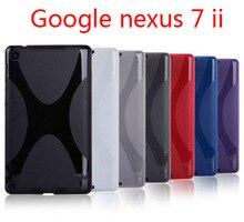 Высокое качество x линия тпу case кожного покрова мягкий гель для google nexus 7 ii 2 2013 2nd 2 поколения бесплатная доставка