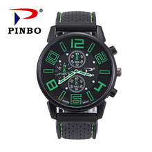 Brand men watch 2018 New Mens Outdoor Military Silicone Relogio Male Sport Quartz Wrist relatio masculine 6 color