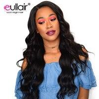 Eullair средства ухода за кожей волна 360 кружевных фронтальных париков бразильский Remy синтетические волосы на кружеве человеческие Искусствен