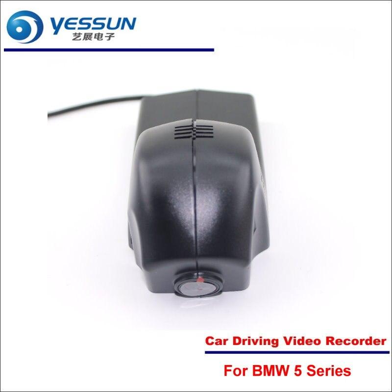 YESSUN Car DVR Driving Video Recorder For BMW 5 Series 2014-2017 Front Camera Black Box Dash Cam Head Up 1080P WIFI Phone APP for bmw x5 e53 e70 x6 e71 car wifi dvr car driving video recorder novatek 96658 car dash cam front camera keep black box