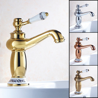 Luxury Bathroom Wash Basin Sink Mixer Faucet With Single Handle Deck Mounted