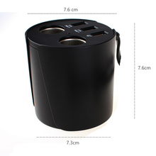 Car Cigarette Lighter Cup Wireless Fast Charger with Dual USB 3.0 port for Smart Phone Qi Quick Cigarette Lighter Sockets charge