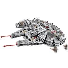 1381Pcs Millennium Legoings Star World Wars Force Awakens Building Blocks Toys For Children Xmas Boy Buckle Gift Military недорого