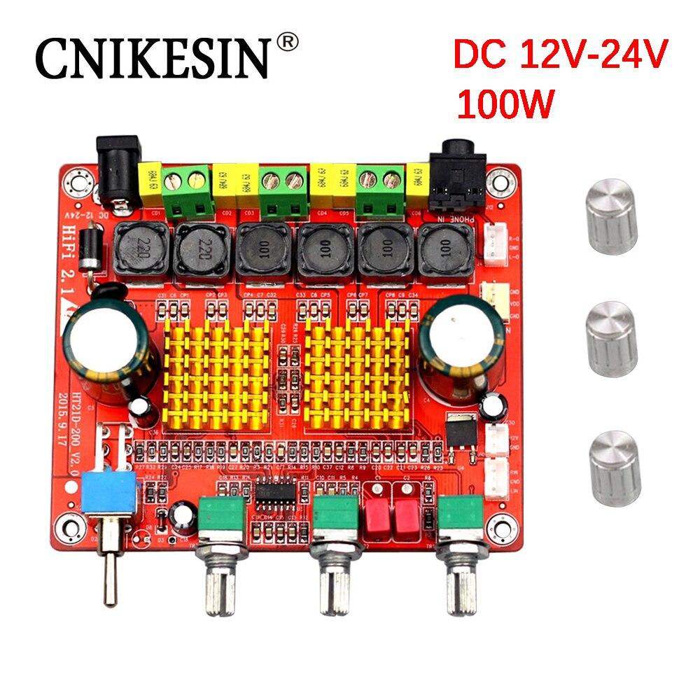 Cnikesin Audio Power Amplifier Board Da2009 Muscle Car Subwoofer 25 Watt Using Tda2009 21 High Plate Product Digital Class D 3 Track Mega Bass