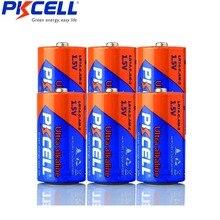 6Pcs Pkcell C LR14 Batterij AM2 CMN1400 E93 Super Alkaline Batterijen 1.5 V Voor Rookmelder Led Verlichting Scheerapparaat draadloze
