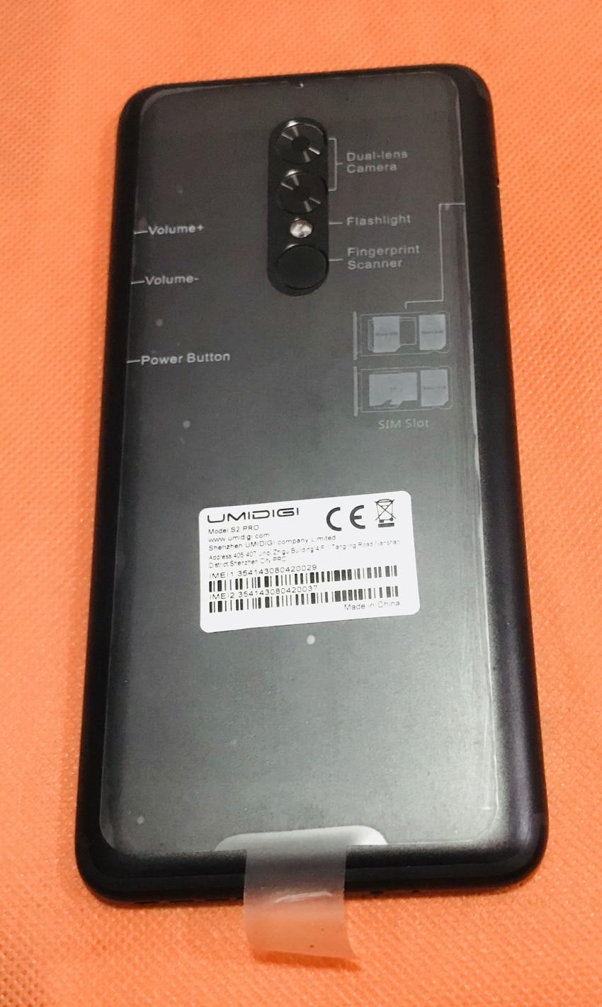 Used Original Back Battery Case Cover+camera Glass+fingerprint Sensor For UMIDIGI S2 Pro Helio P25 Octa Core Free Shipping