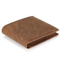 Real Leather Wallet Men Organizer Wallets Brand Vintage Leather Cowhide Short Men S Wallet Purse Coin