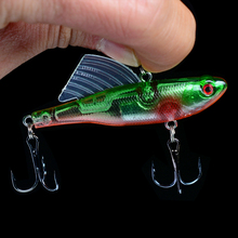 1PC 18g 6.5cm Winter Fishing Baits VIB Hard Baited Leaded Ice Fishing Inner Cable Jig Wobbler Rotating Sea Fishing Tackle