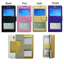 dower me Double window Universal Flip PU Leather Case Cover For BQ BQ-4526 Fox Phone In Stock N2