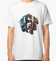 2017 New Arrival Men T Shirt Short Sleeve Brand Rainbow Six Siege Men S White Tees