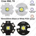 CREE XML XM-L T6 10 W Branco Frio 6500 K Neutral White 5000 K Quente branco 3000 K High Power LED Emissor de 16mm 20mm Branco ou Preto PCB
