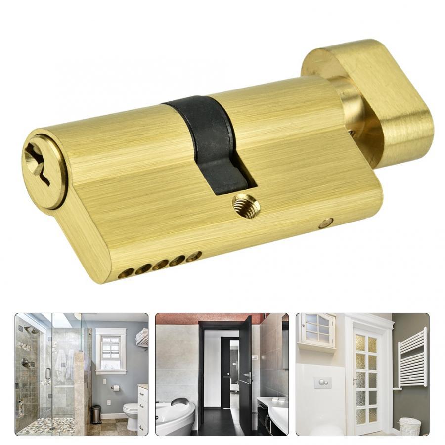 Door Cylinder Biased Lock 65mm Security Copper Single Open Lock Cylinder Bedroom Brass Door Lock Cylinder with Keys in Lock Cylinders from Home Improvement
