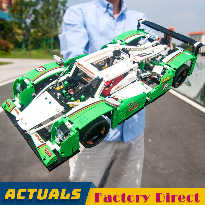 2 In 1 Race Car 3364 Technic Series Building Blocks Motorized SUV Racer Model DIY Educational