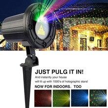 Weihnachten Garten Laserlicht Moving RGB Sterne Projektor Wasserdicht IP65 mit RF Fernbedienung für Urlaub Partei Hochzeit DJ Disco