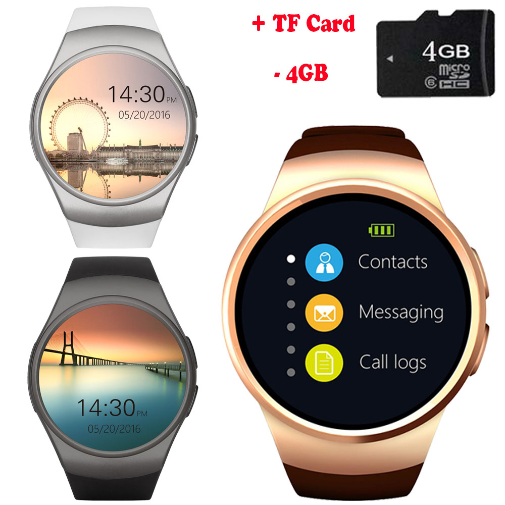 KW32 Bluetooth Smart Watch Phone Full Screen Support TF & SIM Card Smartwatch Heart Rate for Samsung Galaxy S6 Edge Plus S5 S4 цена