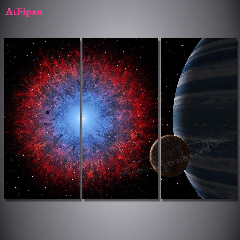 atfipan modular imgenes del universo del espacio pintura impresin de la lona unids cuadros sin marco de pared cuadros para l