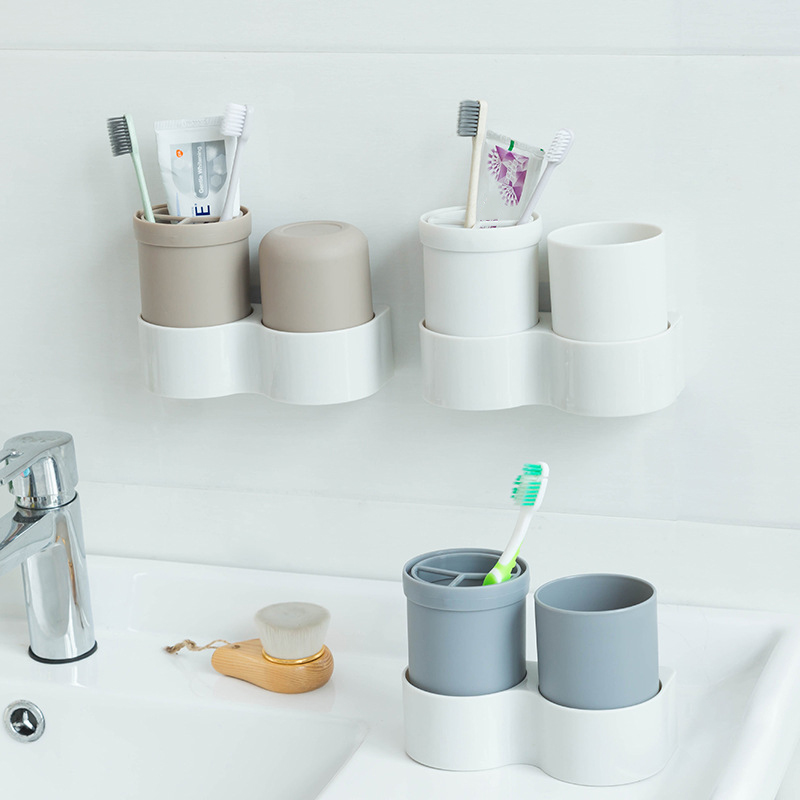 Plastic Toothbrushes Storage Holders Racks Shelf Toothpaste Organizer Cups Wall Door Housekeeper Organization Accessories Items