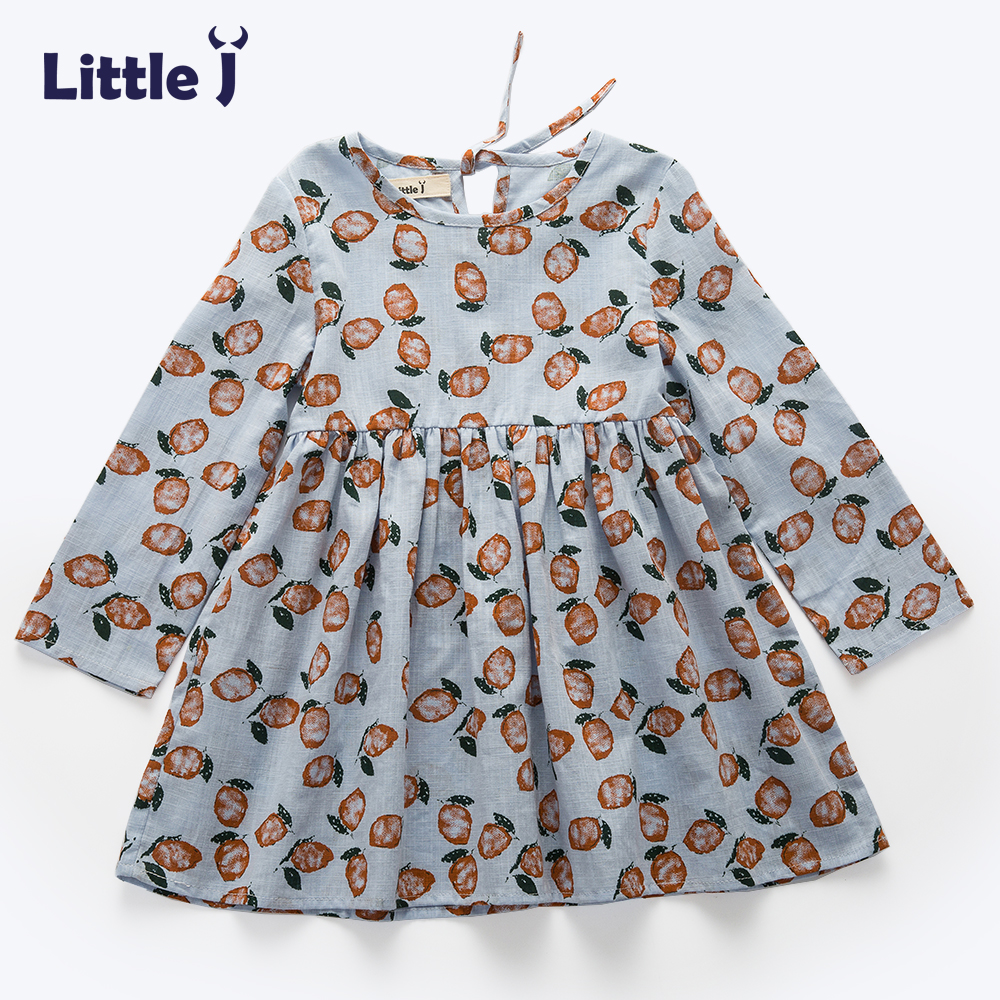 Little J Printed Pattern Baby Girls Dress Spring Autumn Casual Costume Girl Dresses Floral Bohemian Kids Clothes Vestidos томат матрешка аэлита 0 1 г
