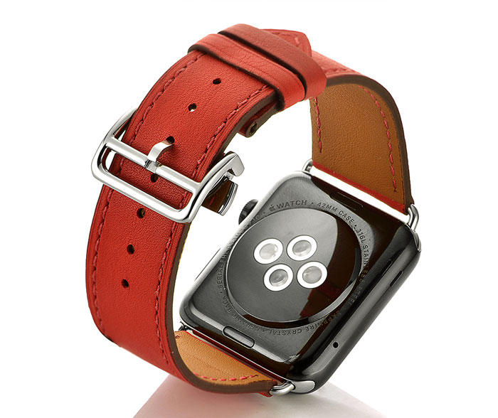 Deployment Buckle strap for apple watch band 44mm 42mm 40mm 38mm iwatch apple watch pulseira 5/4/3/2/1 Genuine leather wristbelt