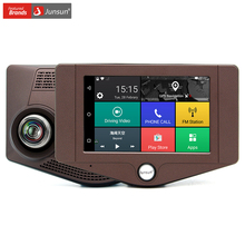 """Junsun nuovo 3g 4.2 """"macchina fotografica dell'automobile DVR Android 5.0 Navigazione GPS Dual lens Retrovisore Bluetooth FHD 1080 P Video Dell'automobile del Registratore"""