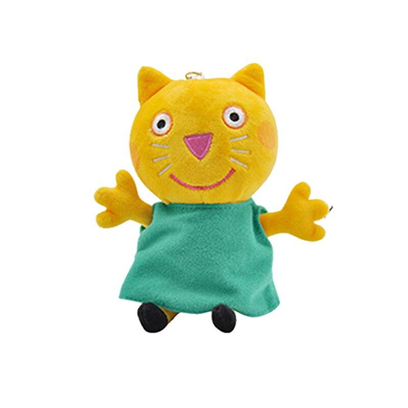 19 см оригинальная Свинка Пеппа Джордж Животные Мягкие плюшевые игрушки мультфильм семья папа мама друг Pelucia мягкие куклы игрушки детские подарки - Цвет: Candy Cat