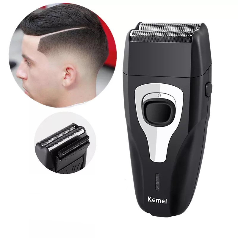 Kemei Rechargeable Electric Shaver for Men Twin Blade Reciprocating Razor Face Care Multifunction Hair Trimmer Beard Trimmer sid razor blade razor reciprocating 2 one hour shaver electric abs face twin blade reciprocating electric