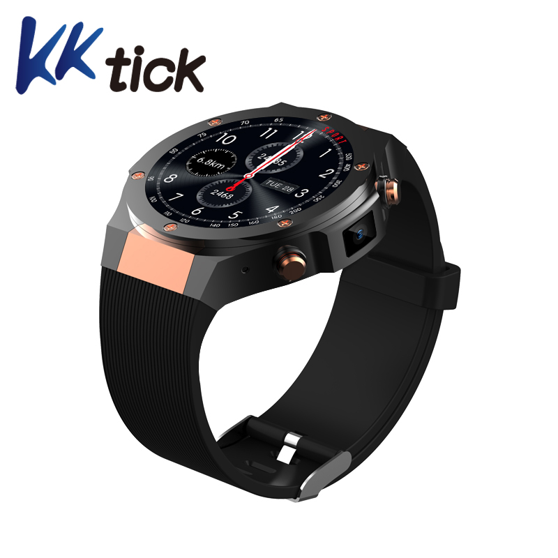 KKTICK H2 MTK6580 Android 5.1 1G+16G Smart watch 400*400 Wifi GPS 5M Camera Heart Rate Smart Activity Trackers For IOS Android smart baby watch q60s детские часы с gps голубые