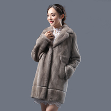 black natural mink fur coat rcheap price sale turn-down collar real natural mink fur coat