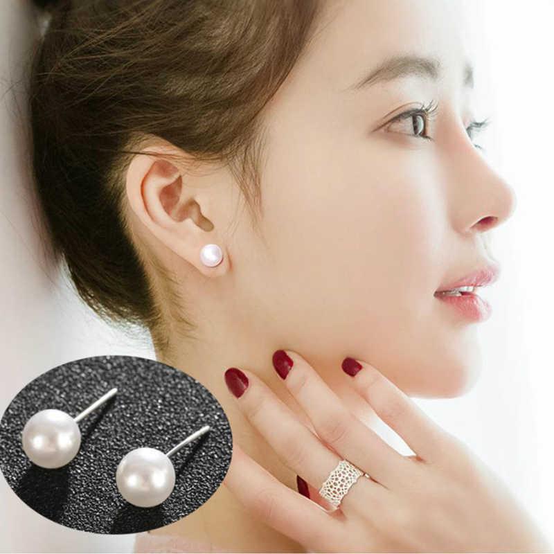 Nueva moda Rojo Negro Plata Color imitación-perla cristal borla pendientes largos boda gota pendientes para mujer fiesta joyería
